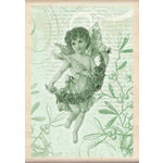 Inkadinkado - Holiday Collection - Christmas - Wood Mounted Stamps - Angel Collage