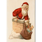 Inkadinkado - Holiday Collection - Christmas - Wood Mounted Stamps - Santa Chimney