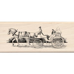 Inkadinkado - Out on the Town Collection - Wood Mounted Stamps - Carriage Ride