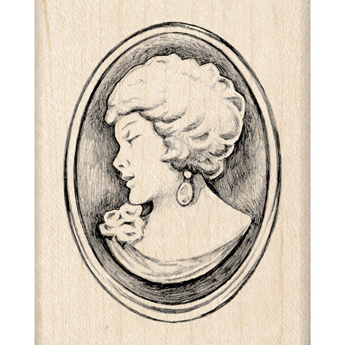 Inkadinkado - Out on the Town Collection - Wood Mounted Stamps - Cameo