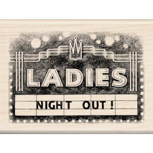 Inkadinkado - Out on the Town Collection - Wood Mounted Stamps - Ladies Marquee
