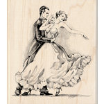 Inkadinkado - Out on the Town Collection - Wood Mounted Stamps - Two Dancers