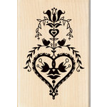 Inkadinkado - Valentine's Day Collection - Wood Mounted Stamps - Folk Art Heart