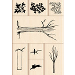 Inkadinkado - Layering Wood Scenes Collection - Wood Mounted Stamps - My Tree Set