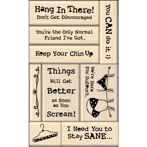 Inkadinkado - Layering Wood Card Making Collection - Wood Mounted Stamps - Encouragement