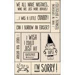 Inkadinkado - Layering Wood Card Making Collection - Wood Mounted Stamps - Sorry