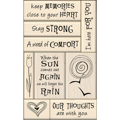 Inkadinkado - Layering Wood Card Making Collection - Wood Mounted Stamps - Sympathy