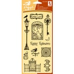 Inkadinkado - Halloween Collection - Clear Acrylic Stamp Set - Creepy Lane, CLEARANCE
