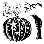 Inkadinkado - Halloween Collection - Clear Acrylic Stamps - Mini Star Pumpkin