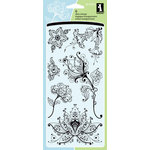 Inkadinkado - Spring Collection - Clear Acrylic Stamps - Artistic Flower Creation