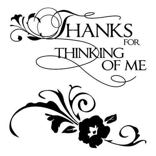 Inkadinkado - Clear Acrylic Stamps - Mini Thanks for Thinking of Me