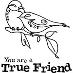 Inkadinkado - Clear Acrylic Stamps - Mini True Friend