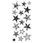 Inkadinkado - Clear Acrylic Stamps - Patterned Stars