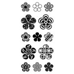Inkadinkado - Clear Acrylic Stamps - Patterned Mod Flowers