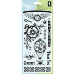 Inkadinkado - Clear Acrylic Stamp Set - Steam Punk