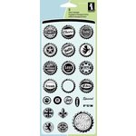 Inkadinkado - Refresh Collection - Clear Acrylic Stamp Set - Bottlecap Expressions Inchie