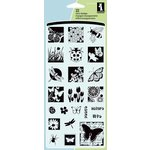 Inkadinkado - Refresh Collection - Clear Acrylic Stamp Set - Insects Inchie