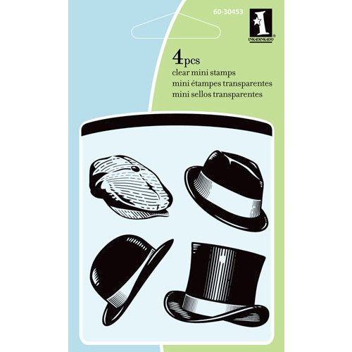 Inkadinkado - Summer Collection - Clear Acrylic Stamps - Mini Classic Hats