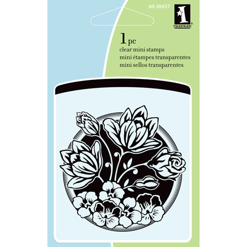 Inkadinkado - Summer Collection - Clear Acrylic Stamps - Mini Flower Bouquet