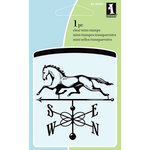 Inkadinkado - Summer Collection - Clear Acrylic Stamps - Mini Horse Weathervane