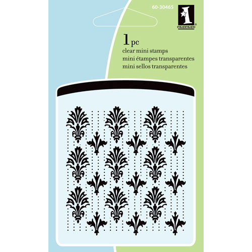 Inkadinkado - Summer Collection - Clear Acrylic Stamps - Mini Victorian Pattern