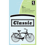 Inkadinkado - Summer Collection - Clear Acrylic Stamps - Mini Bicycle