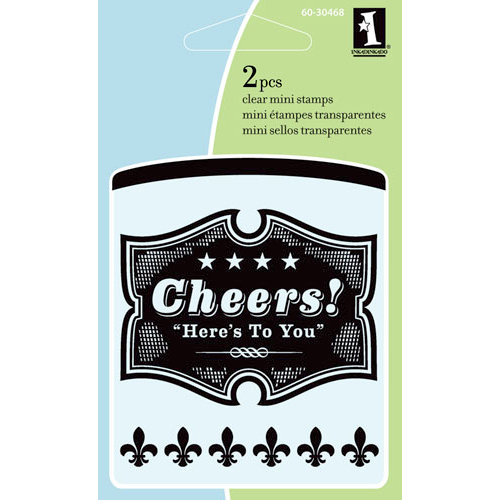Inkadinkado - Summer Collection - Clear Acrylic Stamps - Mini Cheers