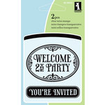Inkadinkado - Summer Collection - Clear Acrylic Stamps - Mini Welcome Signs
