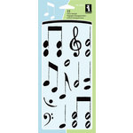 Inkadinkado - Clear Acrylic Stamp Set - Musical Notes