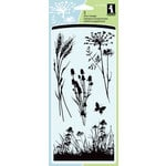 Inkadinkado - Clear Acrylic Stamp Set - Meadow