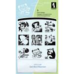 Inkadinkado - Clear Acrylic Stamp Set with Acrylic Block - Wild Thing Animals