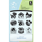 Inkadinkado - Clear Acrylic Stamp Set with Acrylic Block - Dogs