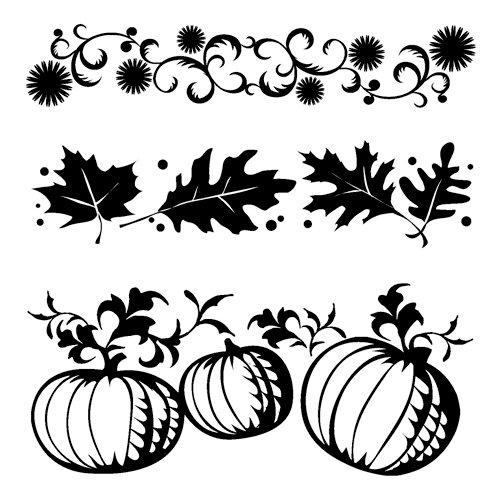 Inkadinkado - Fall Collection - Clear Acrylic Stamps - Mini Borders