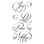 Inkadinkado - Clear Acrylic Stamps - Calligraphy Expressions