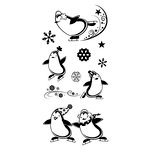 Inkadinkado - Christmas - Clear Acrylic Stamps - Penguins