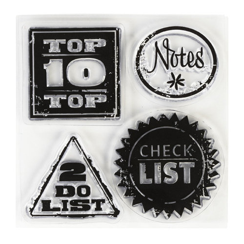 Inkadinkado - Clear Acrylic Stamps - Mini Lets Enumerate