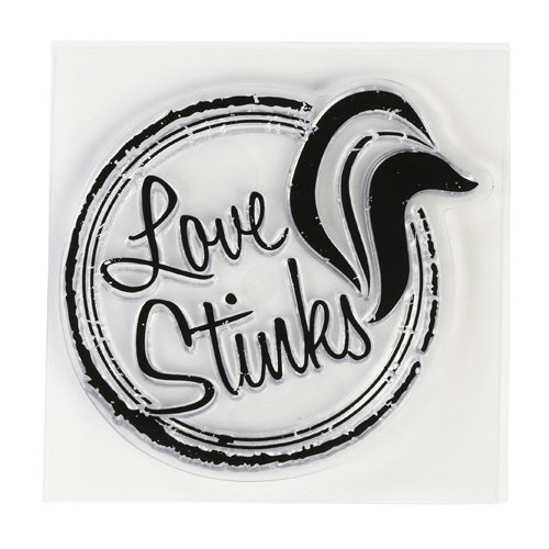 Inkadinkado - Clear Acrylic Stamps - Mini Love Stinks