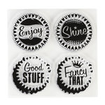 Inkadinkado - Clear Acrylic Stamps - Mini Positive Pop