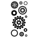 Inkadinkado - Clear Acrylic Stamps - Cogs and Gears