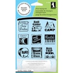Inkadinkado - Clear Acrylic Stamp Set with Acrylic Block - Mini Van Mom