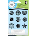 Inkadinkado - Clear Acrylic Stamp Set with Acrylic Block - Buttons