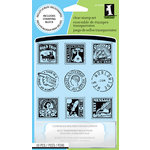 Inkadinkado - Clear Acrylic Stamp Set with Acrylic Block - Postage