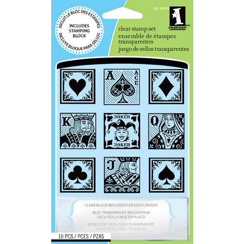 Inkadinkado - Clear Acrylic Stamp Set with Acrylic Block - The Upper Deck