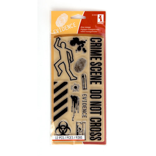 Inkadinkado - Halloween Collection - Clear Acrylic Stamps - Crime Scene