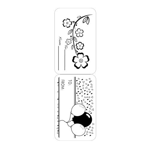 Inkadinkado - Inkadinkaclings Collection - Rubber Stamps - Gift Tags