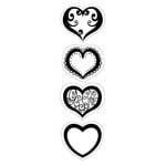 Inkadinkado - Inkadinkaclings Collection - Rubber Stamps - Hearts