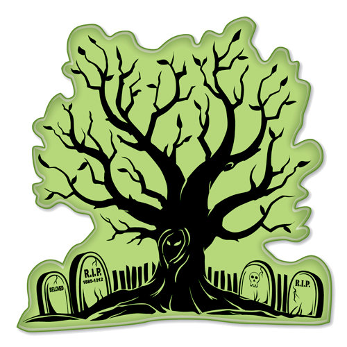 Inkadinkado - Inkadinkaclings Collection - Halloween - Rubber Stamps - Halloween Night