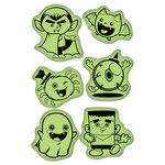Inkadinkado - Inkadinkaclings Collection - Halloween - Rubber Stamps - Cute Ghouls