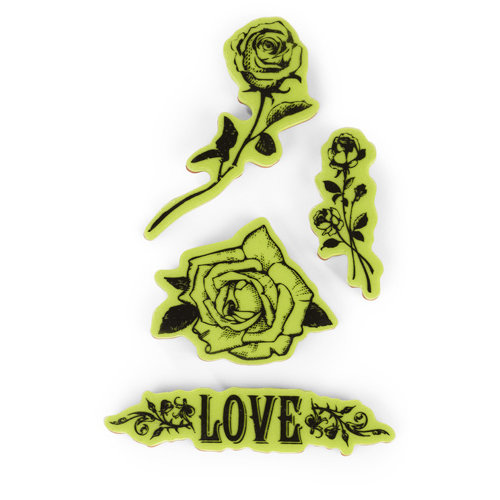 Inkadinkado - Valentine's Day Collection - Inkadinkaclings - Rubber Stamps - The Flowers and Hearts