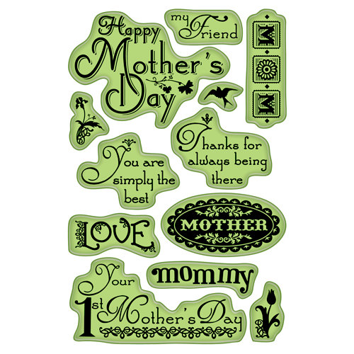 Inkadinkado - Mother's Day Collection - Inkadinkaclings - Rubber Stamps - Expressions for Mom